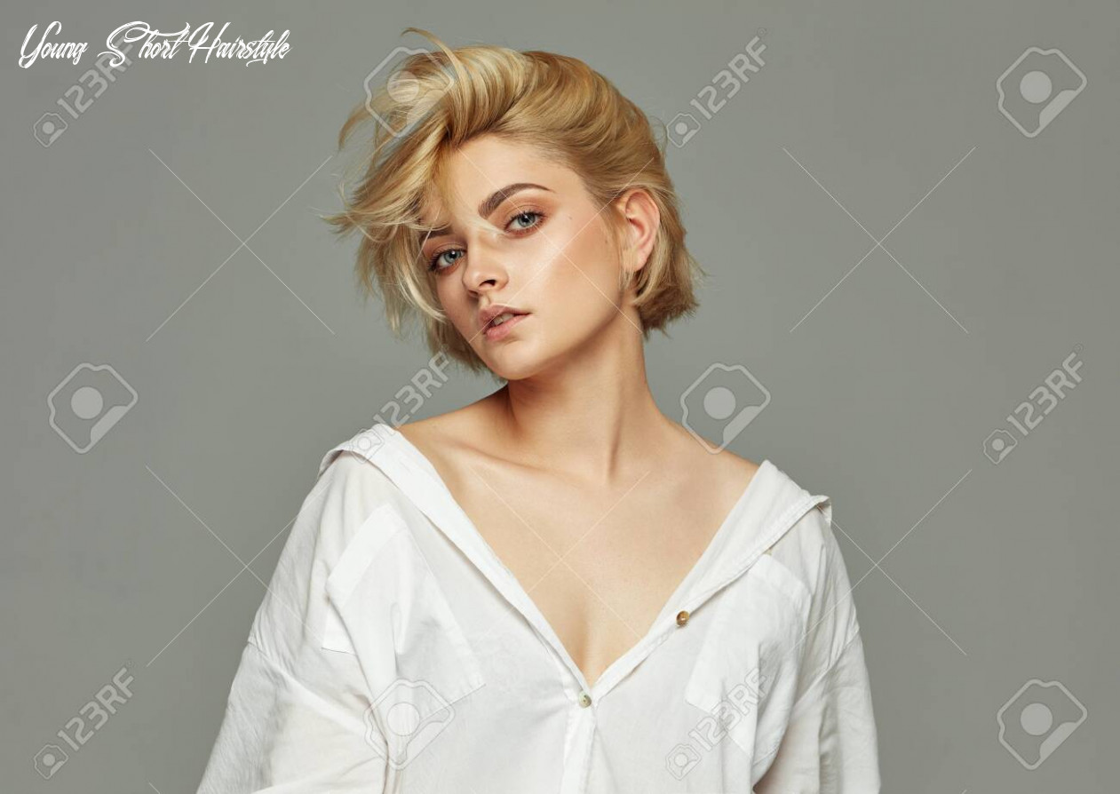 Stock photo young short hairstyle