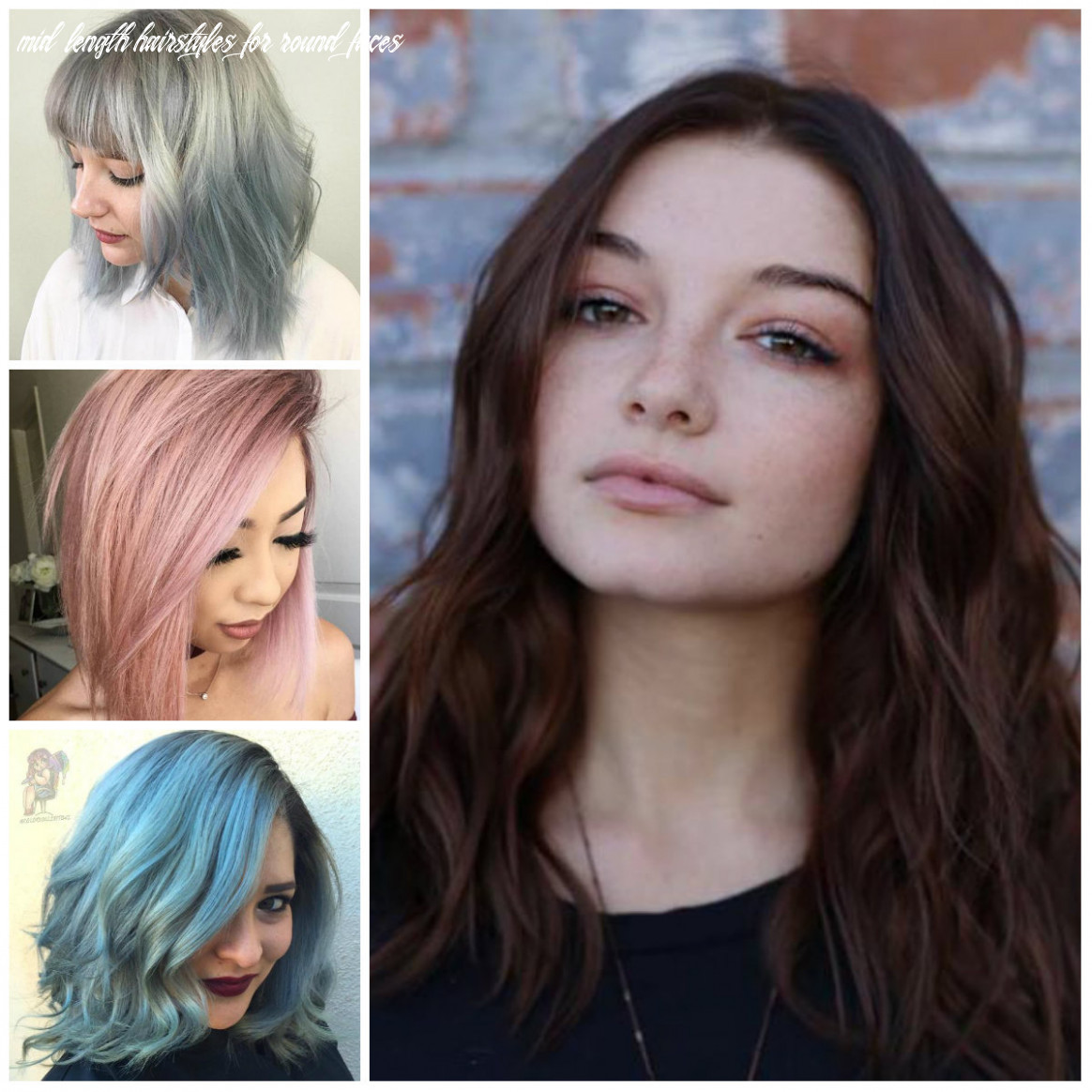 Striking medium length hairstyles for round faces | 10 haircuts