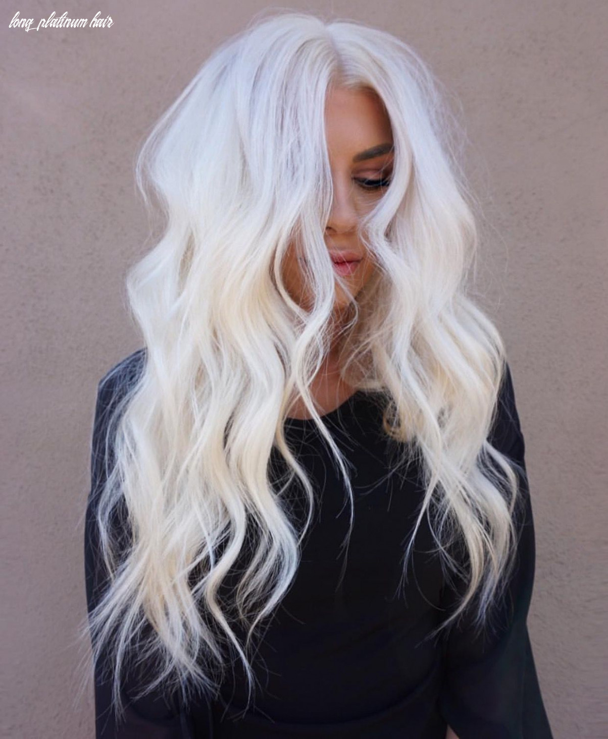 Stunning level 11 icy platinum hair looks gorgeous on long