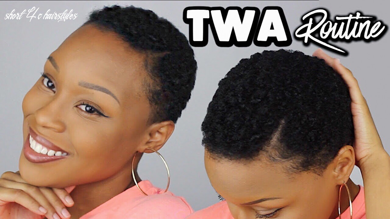 Styling my 10c twa/short natural hair   quick & easy routine short 4c hairstyles