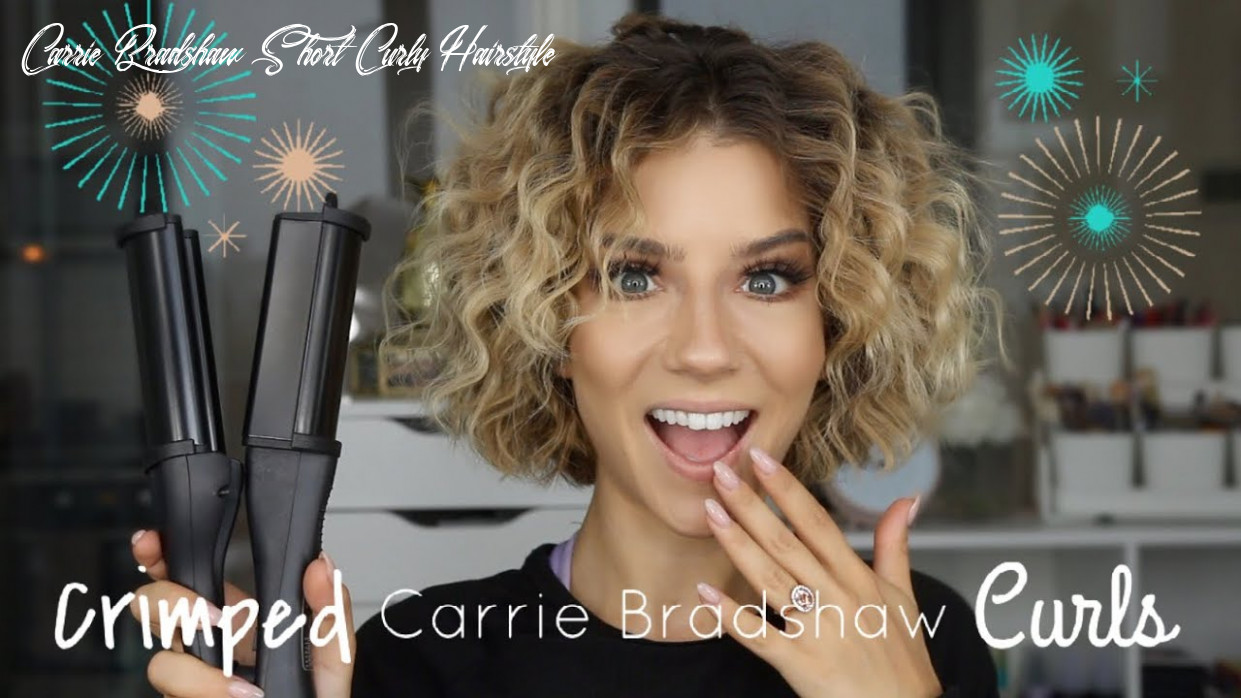 Styling my new short hair   chill & chat grwm carrie bradshaw short curly hairstyle