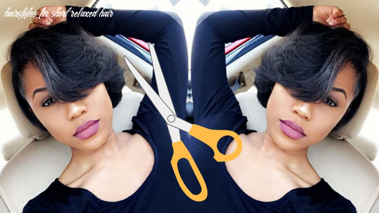 Styling my super short relaxed hair | hair update hairstyles for short relaxed hair