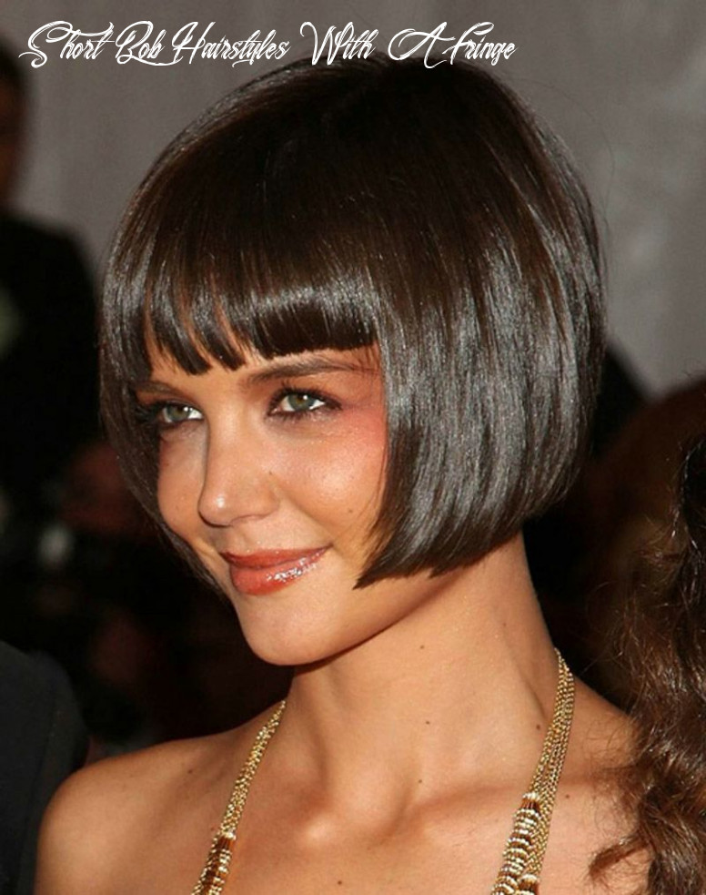 Sultry and sexy bob hairstyles with bangs short bob hairstyles with a fringe