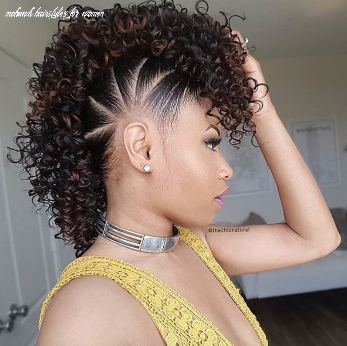 Super cute fauxhawk @thechicnatural black hair information