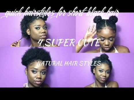 Super cute hairstyles for short natural hair !   half up, space