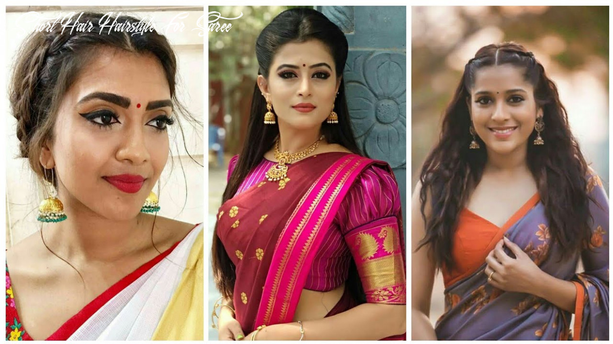 Super easy indian traditional hairstyles for saree▪simple hairstyles for long/medium hair to try10 short hair hairstyle for saree