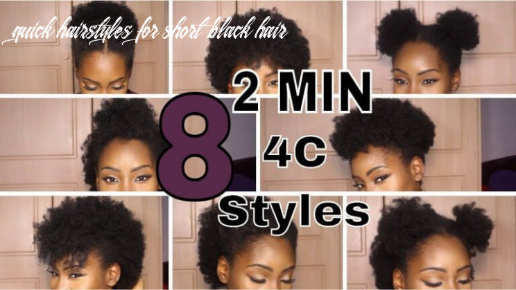 Super quick hairstyles on short 8c hair top   natural hair styles