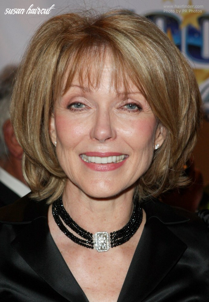 Susan Blakely | Medium length hair that curves around the chin