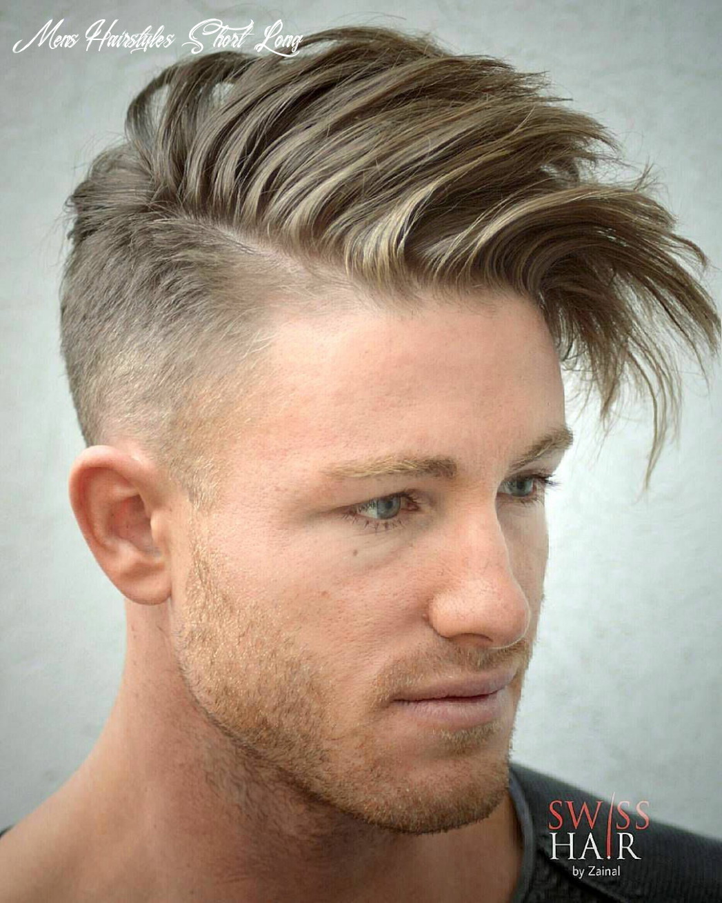 Swisshairbyzainal and short sides and long hair on top   mens