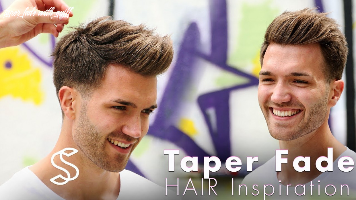 Taper fade and texture barber haircut mens hairstyle inspiration taper fade with quiff