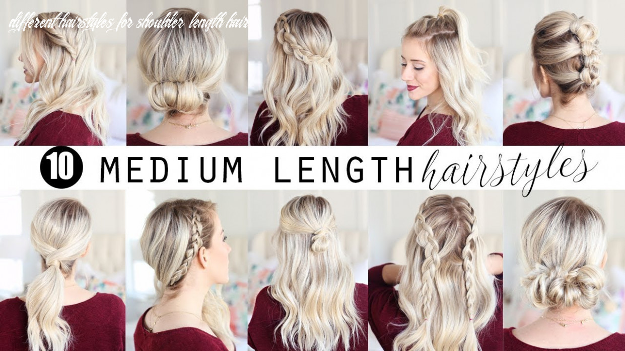 Ten medium length hairstyles!!! | twist me pretty different hairstyles for shoulder length hair