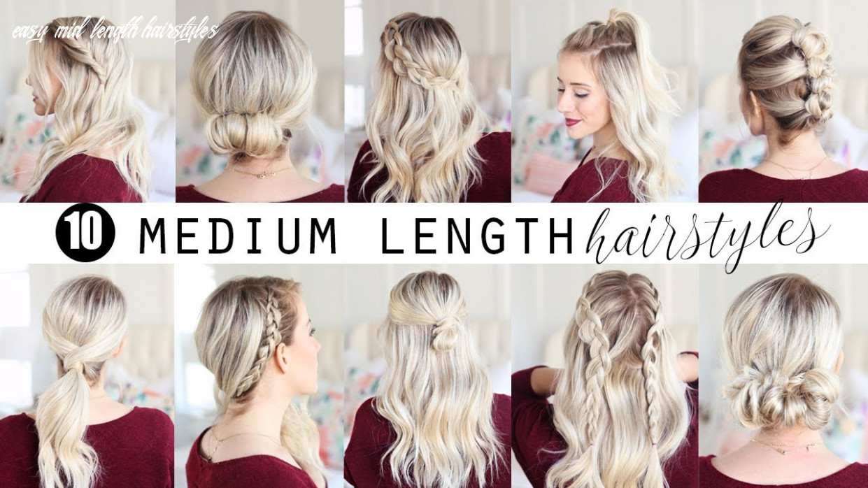 Ten medium length hairstyles!!! | twist me pretty easy mid length hairstyles
