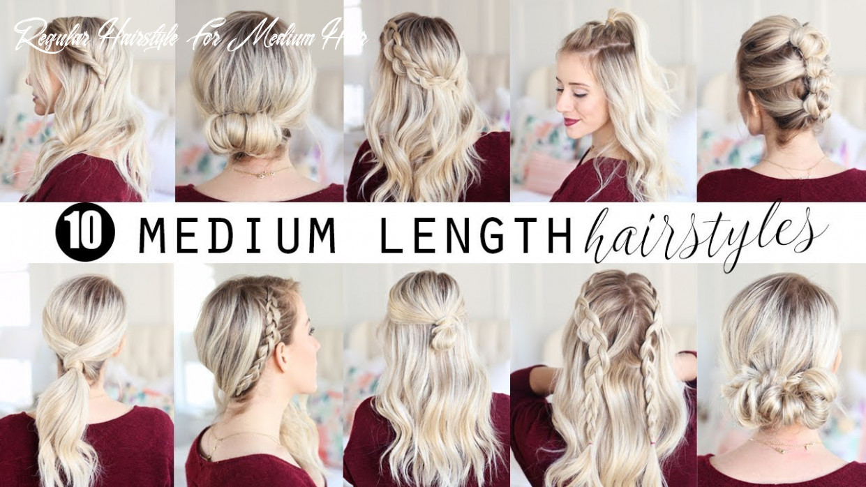 Ten medium length hairstyles!!! | twist me pretty regular hairstyle for medium hair