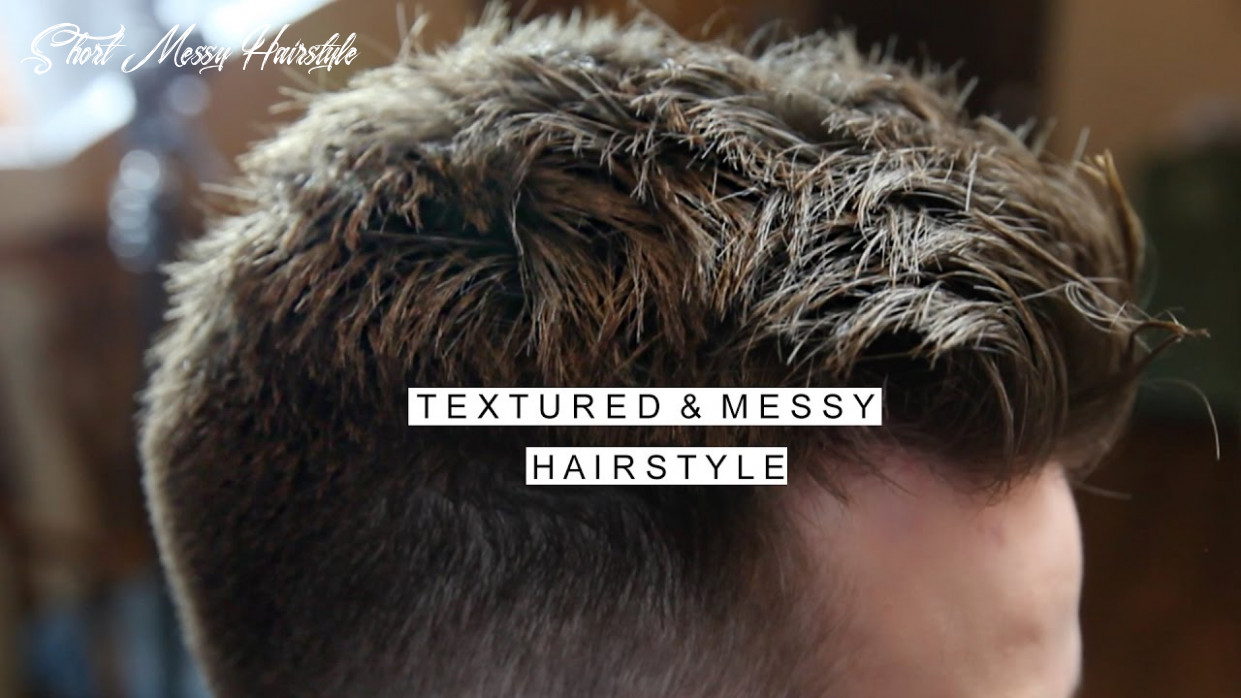 Textured messy hairstyle   men's short hair with fade   cool haircut short messy hairstyle