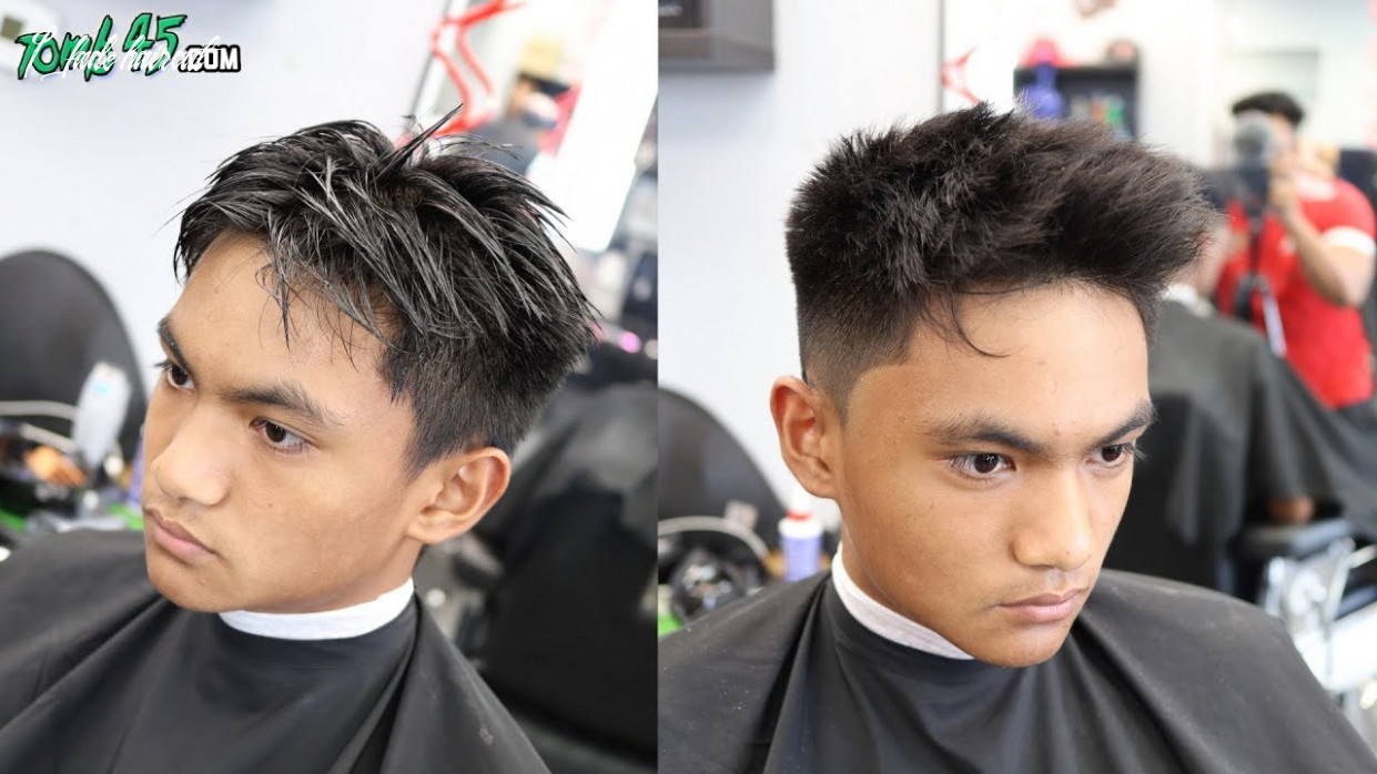 Textured number 12 fade on stubborn mens hair 1 fade haircut