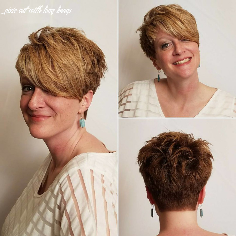 Textured tousled pixie cut with long asymmetrical side swe… | flickr pixie cut with long bangs