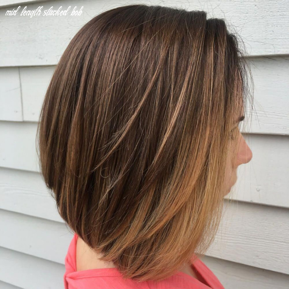 The coolest mid length stacked bob for thin hair #bobsforthinhair