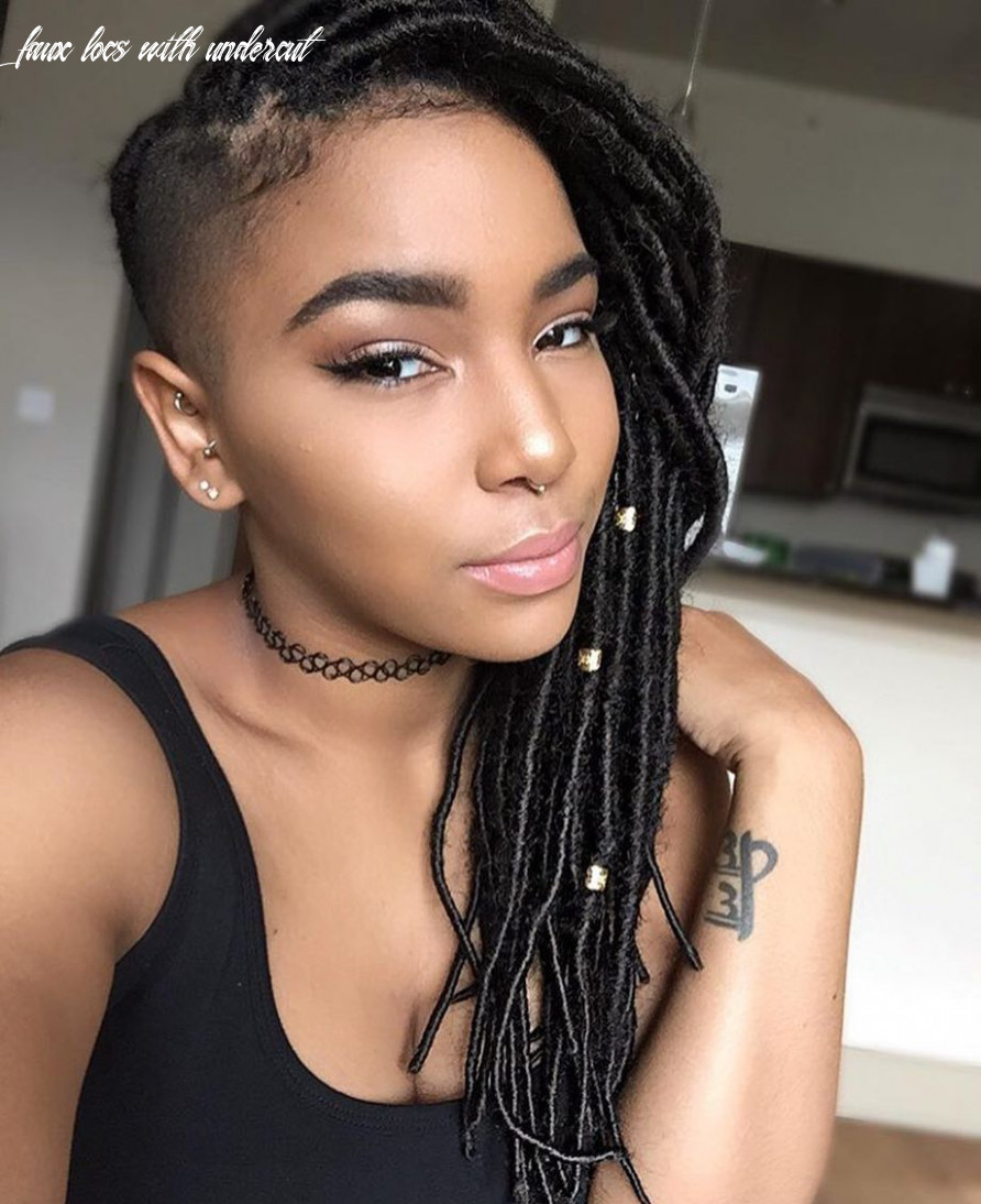 The cut life (@thecutlife) loving these faux locs & undercut on