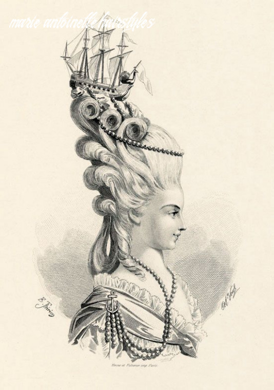 """The """"frégate de junon"""" hairstyle, as sported by marie antoinette"""