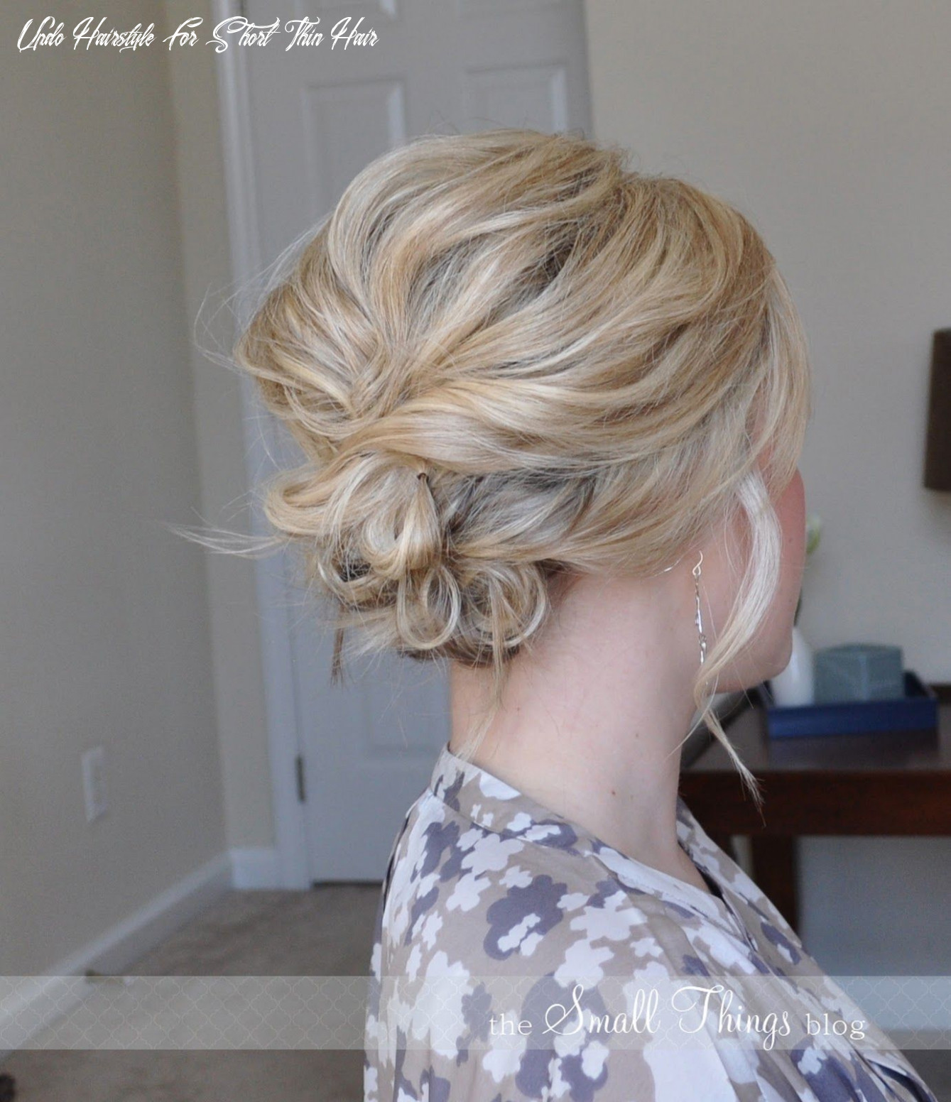 The Messy Side Updo | Short hair updo, Messy short hair ...