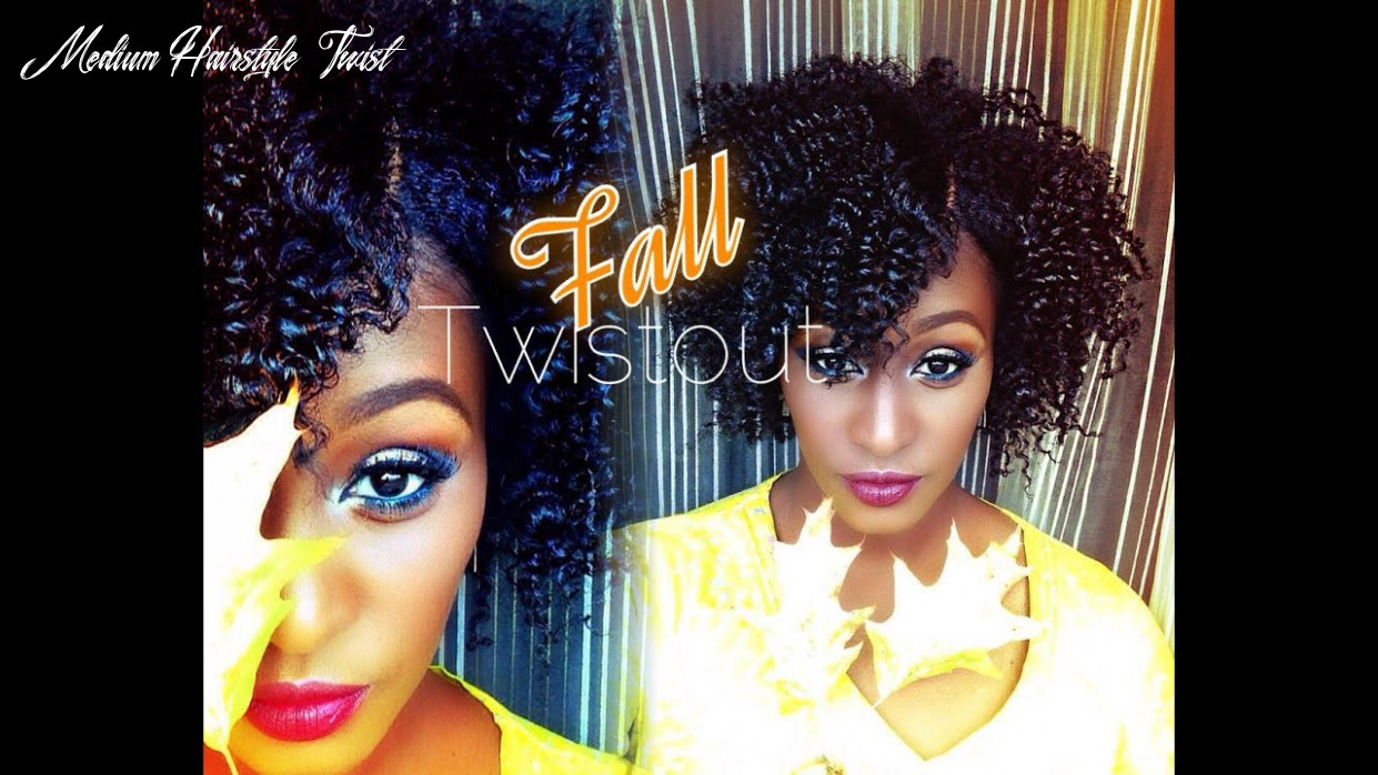 The perfect fall twist out on shortmedium length 8b natural hair  entwine couture medium hairstyle twist