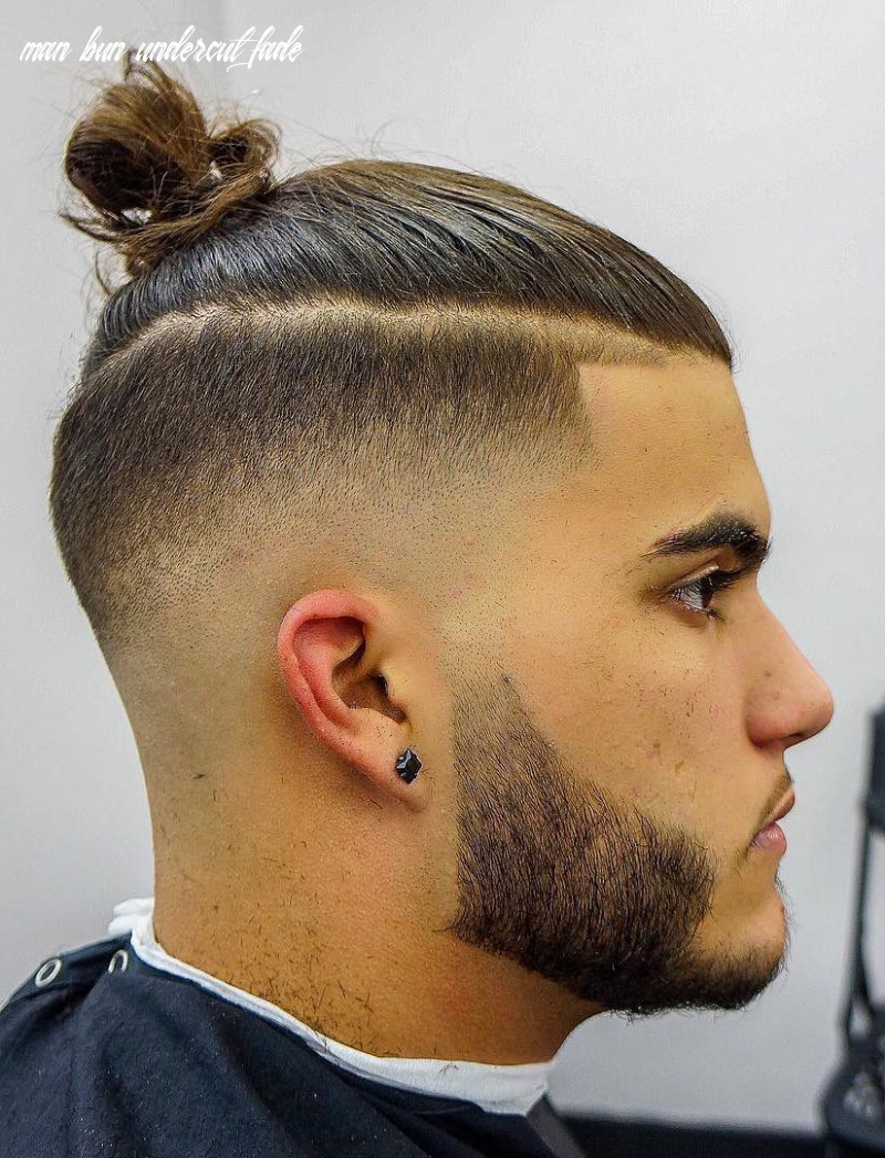 The top knot hairstyle visual guide for men (10 different styles) man bun undercut fade