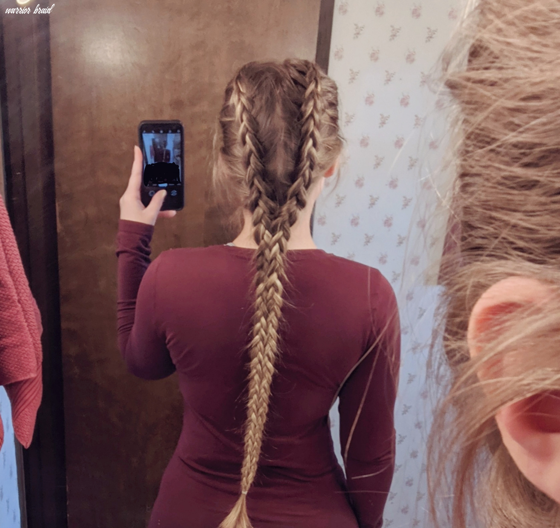 The Warrior Braid - two Dutch braids weaved together : longhair