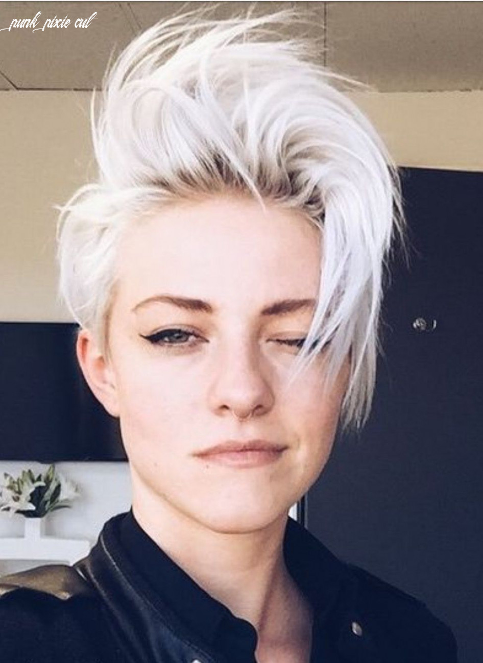 ˏˋtheartofblushingˊˎ˗ | punk haircut, short white hair, short punk