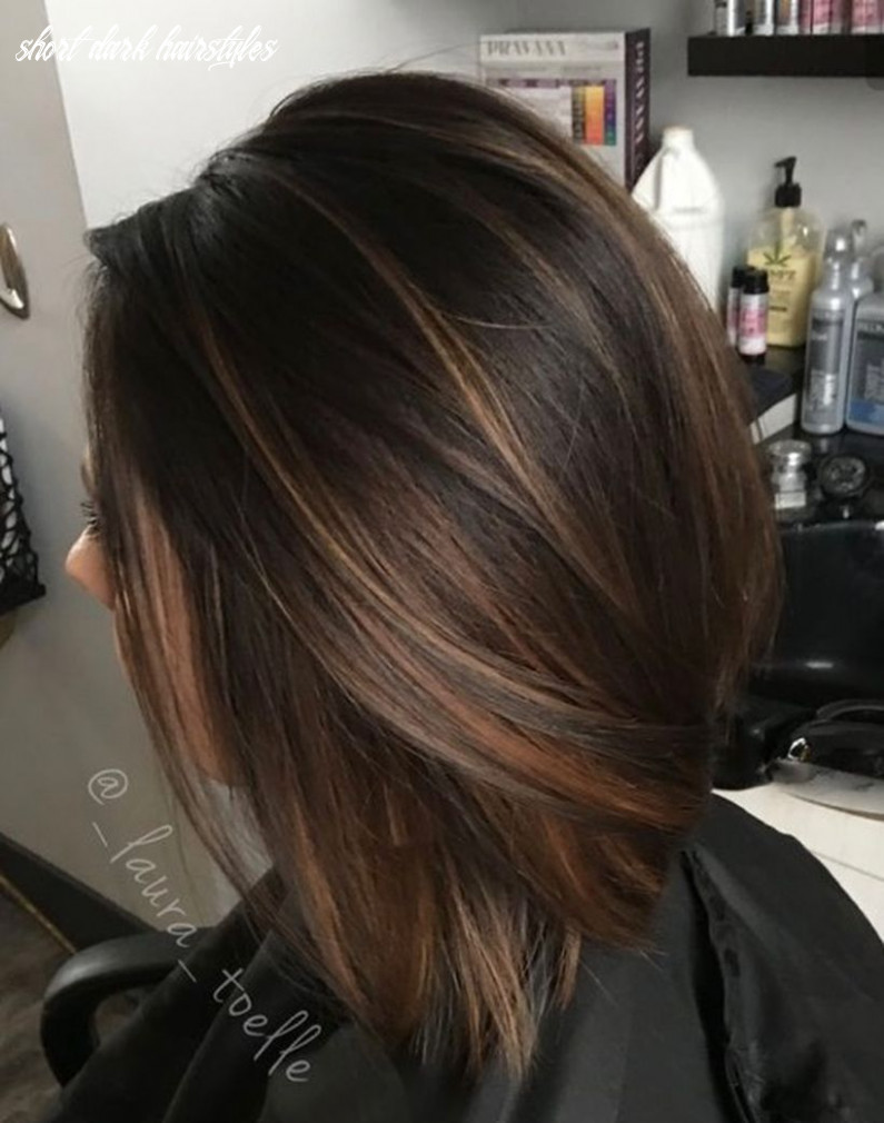 There are a lot of trendy hairstyles colors for brunettes in this