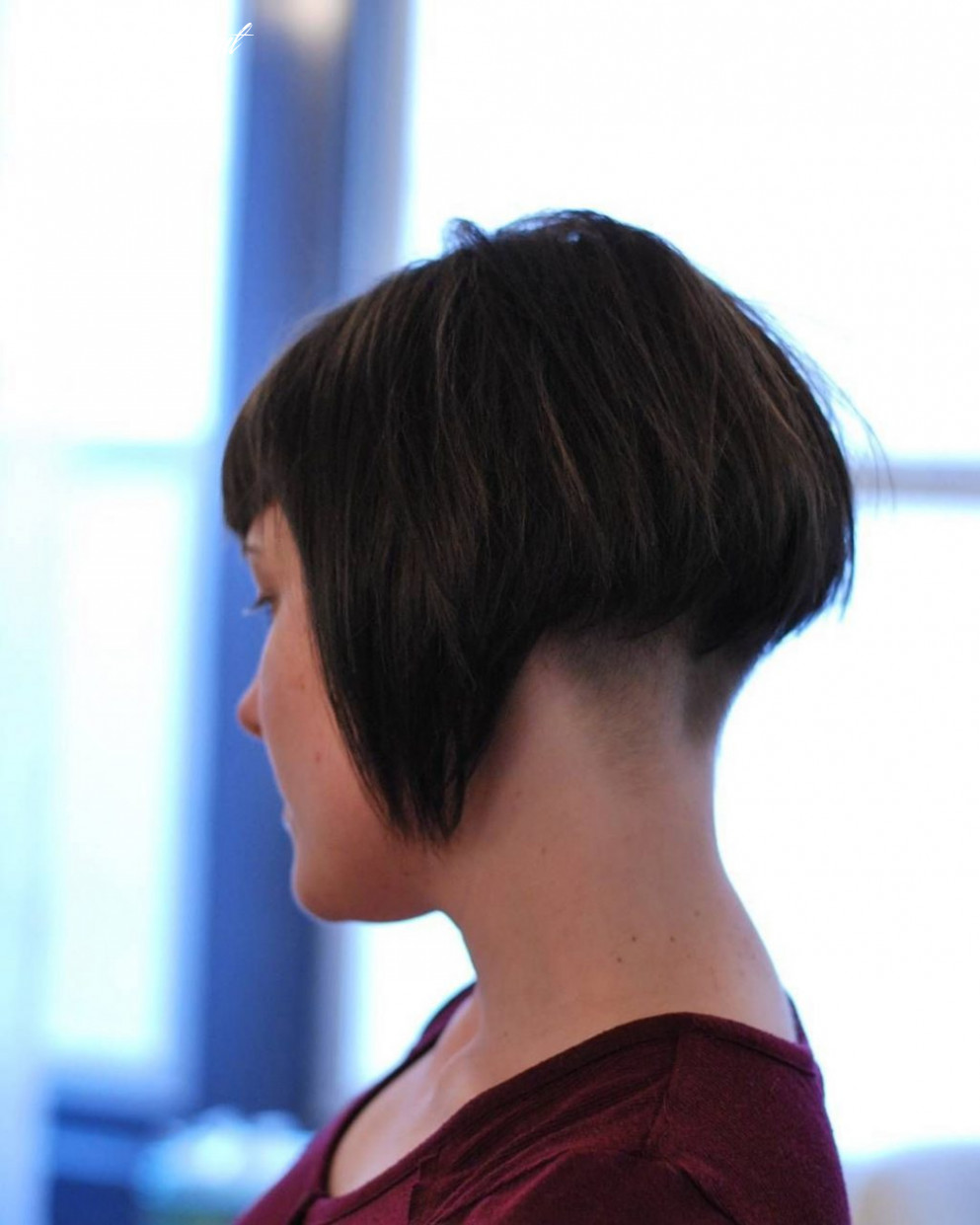 These are outstanding shaved nape bob, human hair color | undercut