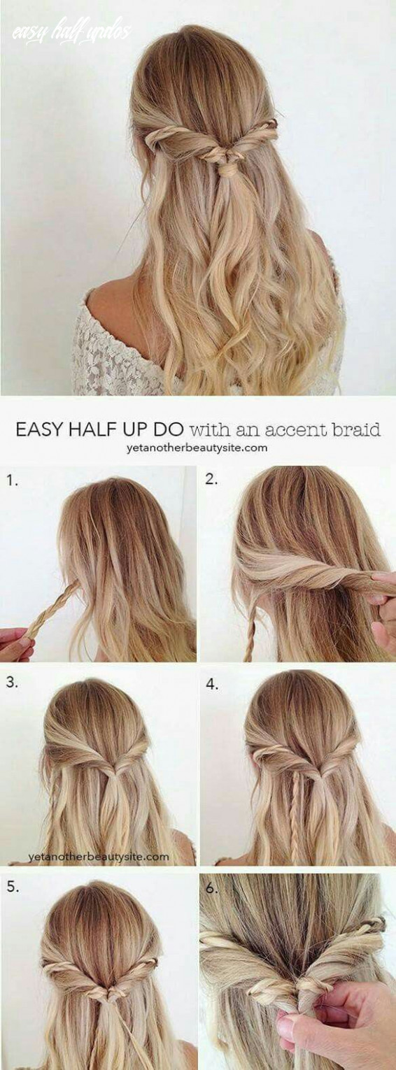 This easy half updo is too cute too easy to not try out during