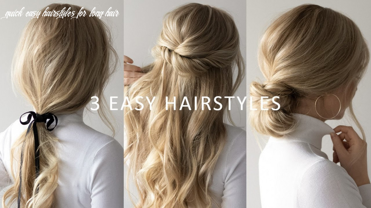 Three 12 minute easy hairstyles 💕 | 12 hair trends quick easy hairstyles for long hair