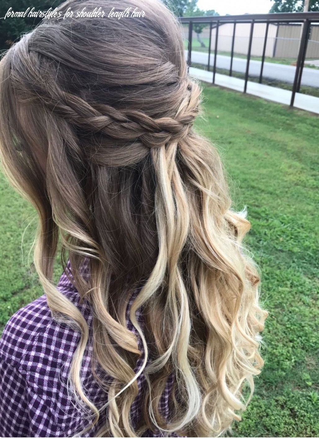 To stand out from the crowd | wedding hair down, braided