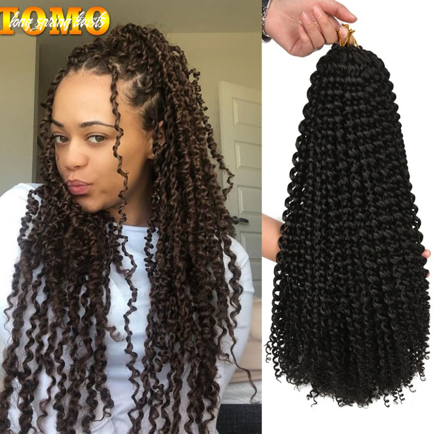 """Tomo 10"""" 10"""" 10"""" long passion twist crochet hair extension ombre spring twist braiding hair synthetic crochet braids 10 strands long spring twists"""