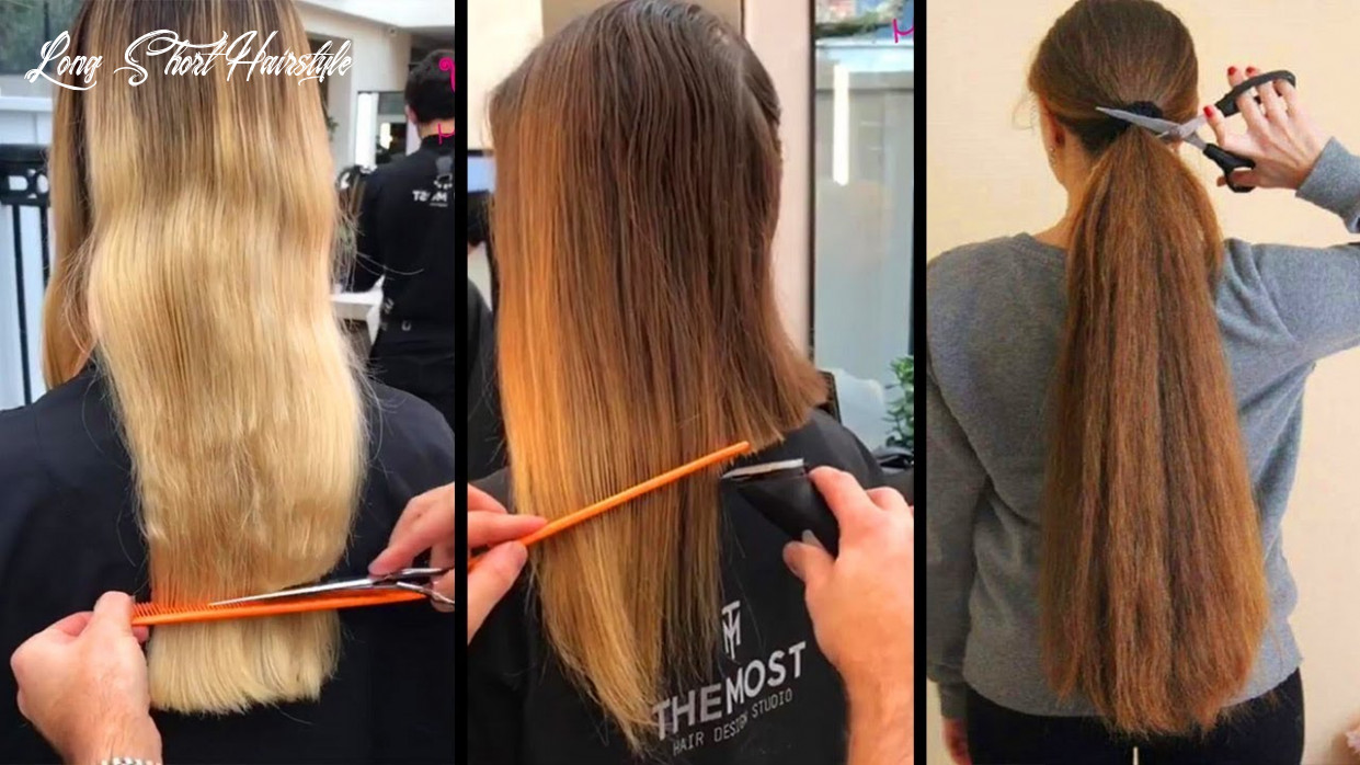 Top 10 amazing long hair cutting tutorials!long to short hairstyle transformations 10 long short hairstyle