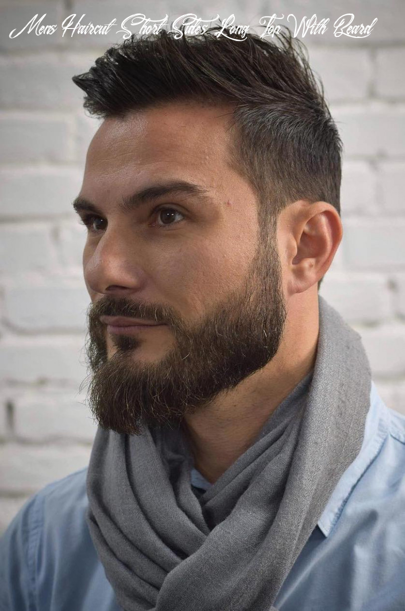 Top 10 hairstyles for men with beards mens haircut short sides long top with beard