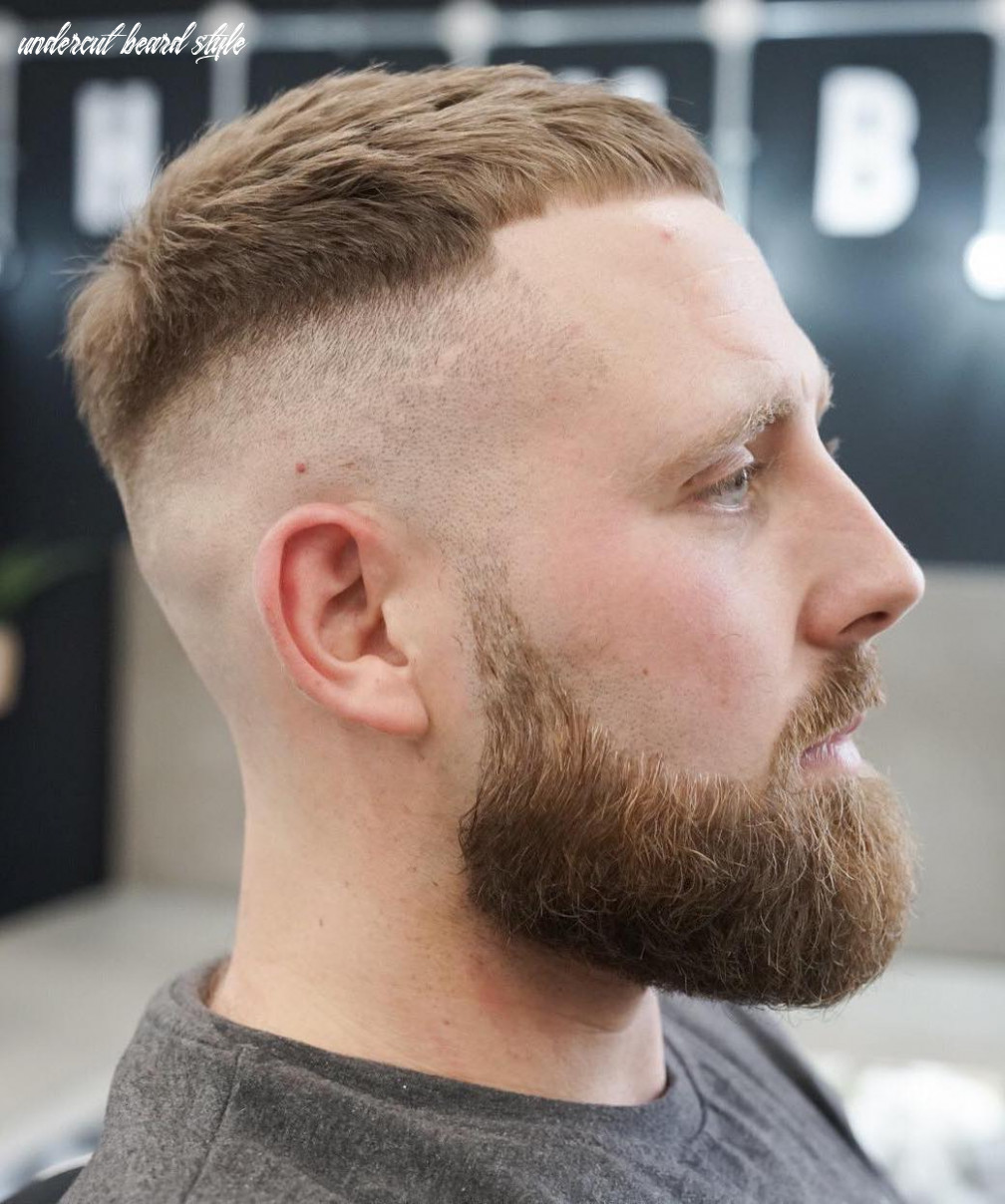 Top 10 hairstyles for men with beards undercut beard style