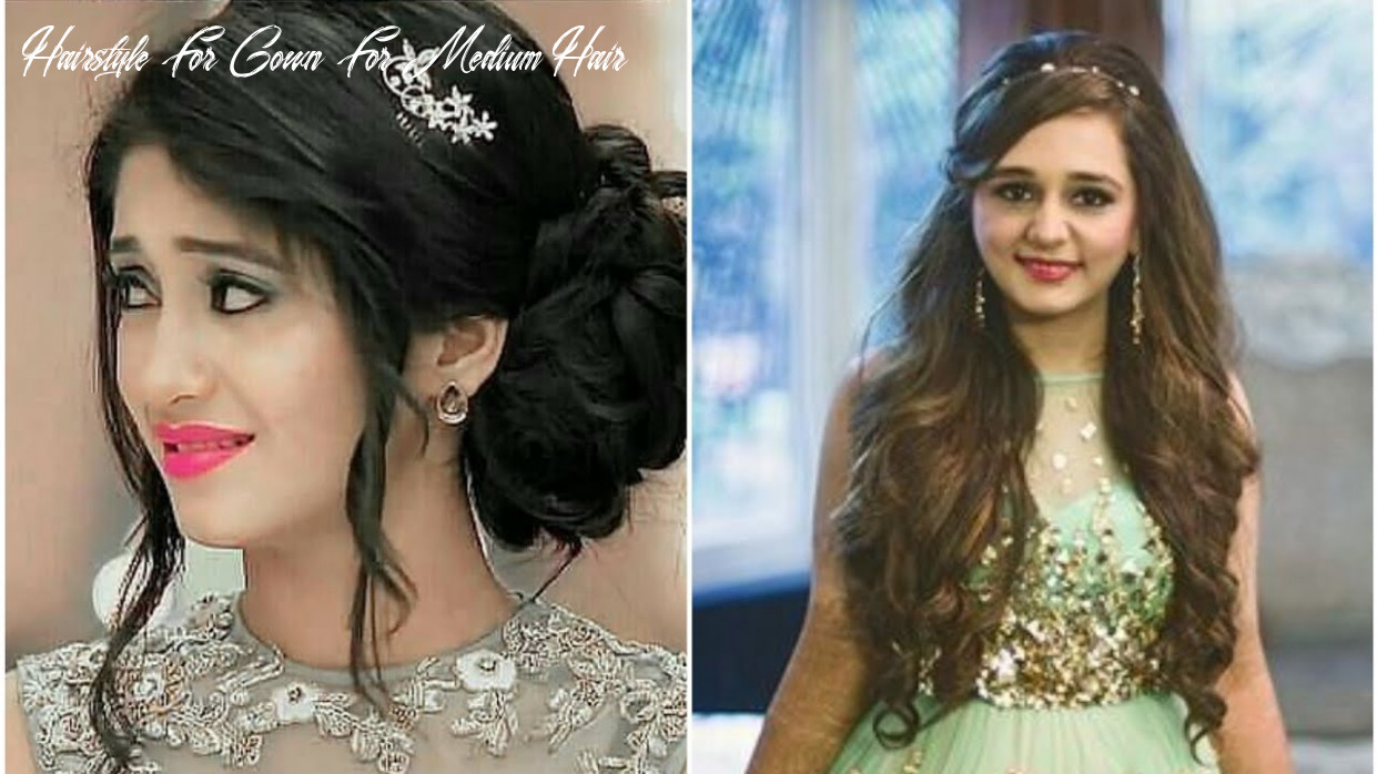 Top 10 hairstyles with gowns || गाउन पर हेयर स्टाइल ideas || wedding & party hairstyles hairstyle for gown for medium hair