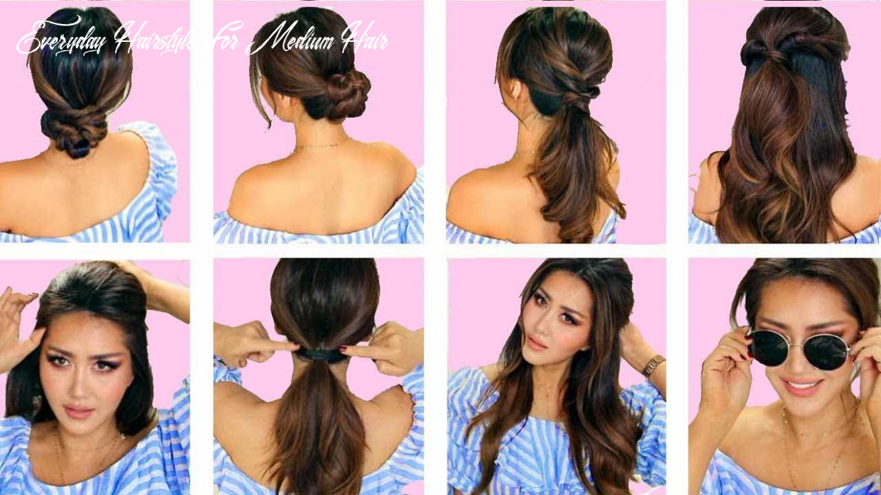 ★top 10 💗 lazy everyday hairstyles with puff 💗 quick & easy braids & updo for long 💗 medium hair everyday hairstyle for medium hair
