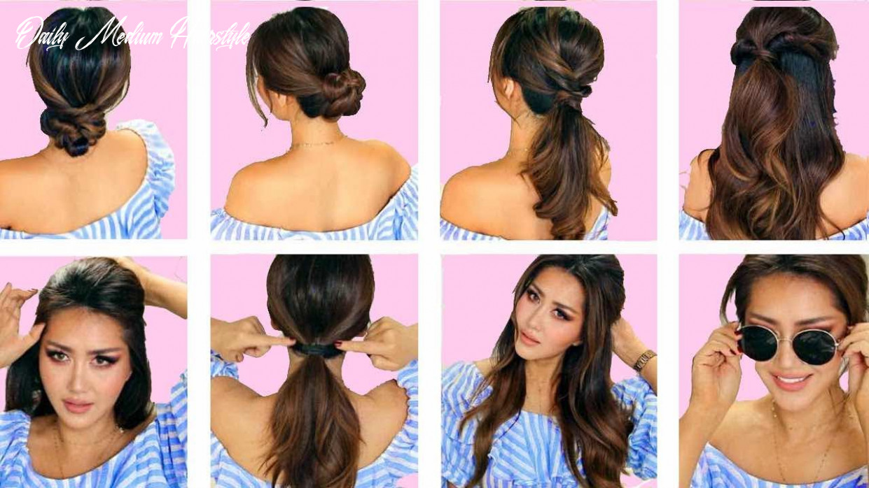 ★top 12 💗 lazy everyday hairstyles with puff 💗 quick & easy braids & updo for long 💗 medium hair daily medium hairstyle