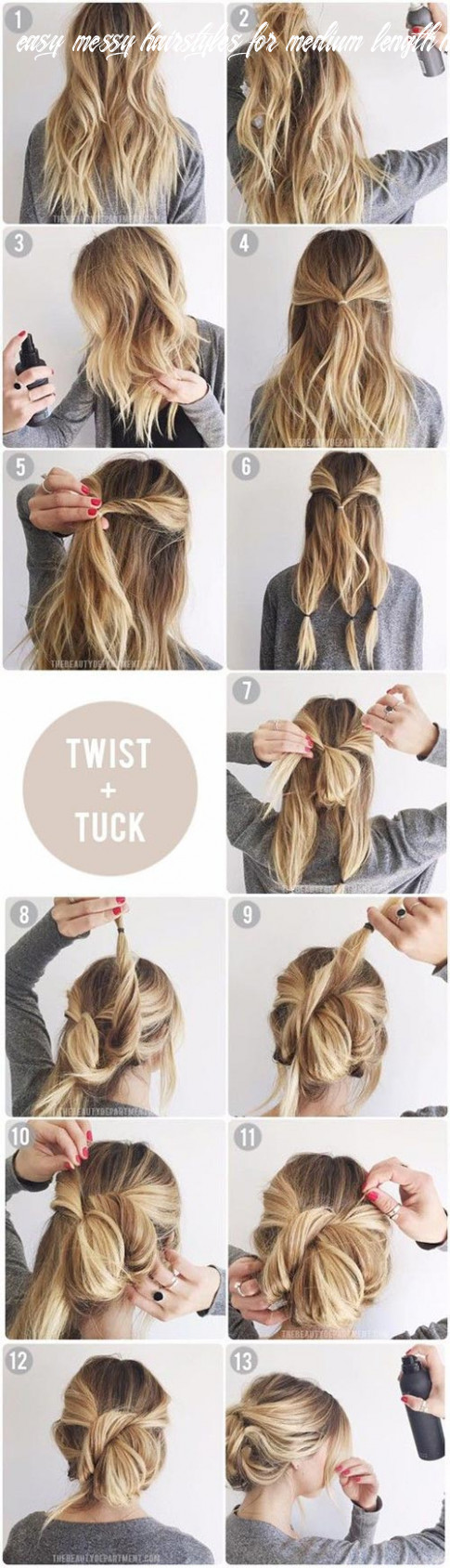 Top 12 messy updo tutorials for different hair lengths – wcases easy messy hairstyles for medium length hair