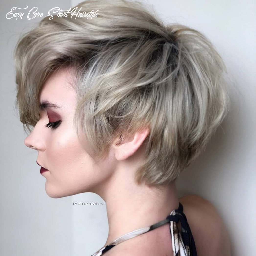 Top 9 trendy, easy care short layered hairstyles | short layered