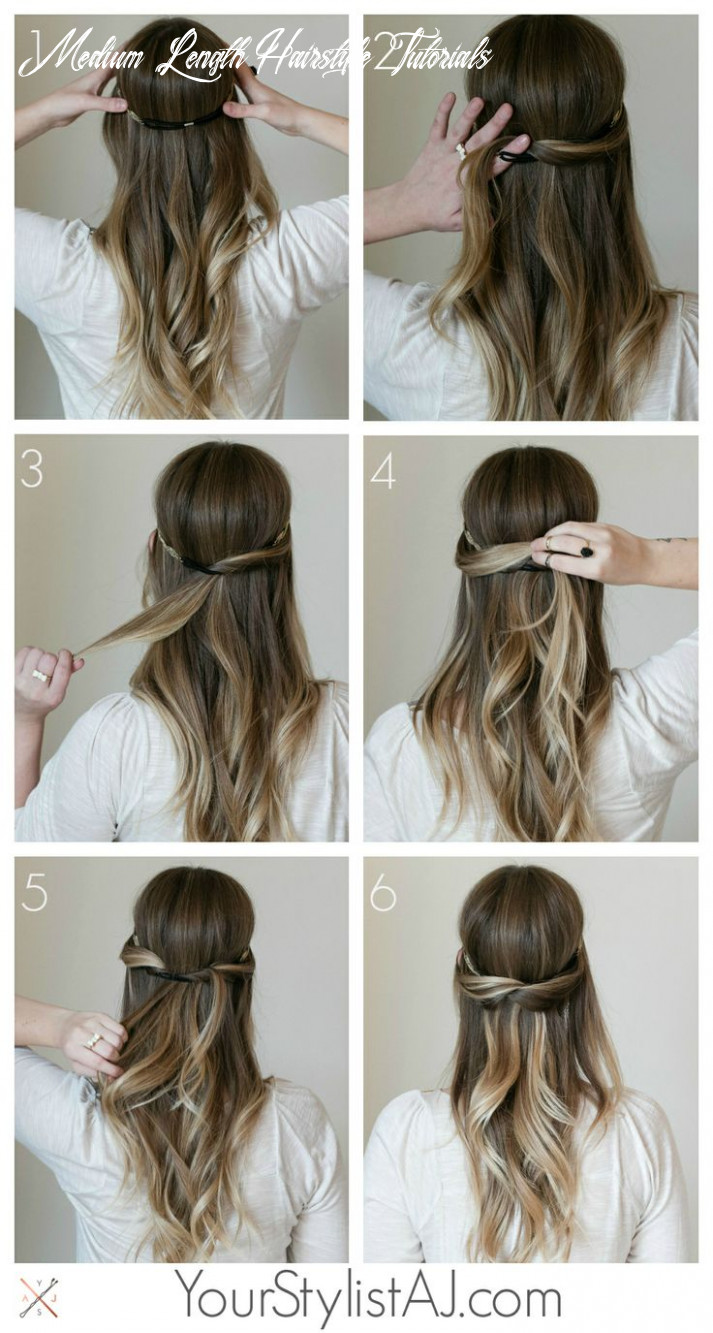 Top hair tutorials for spring summer season medium length hairstyle tutorials