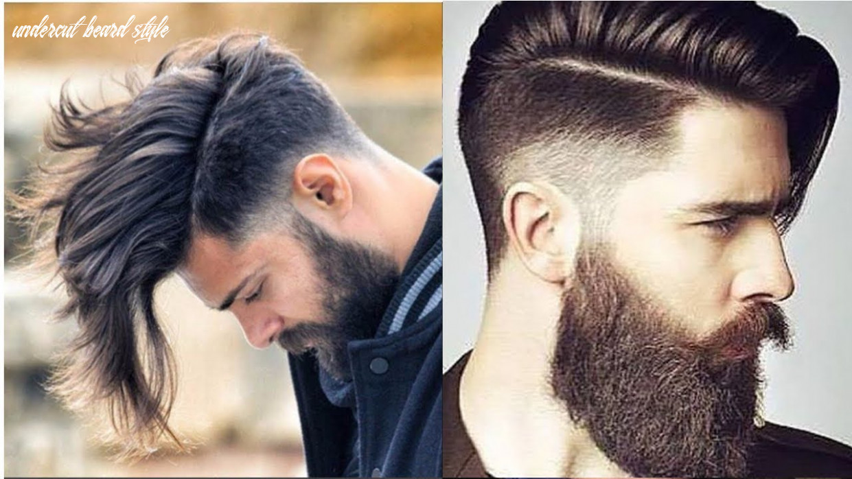 Top latest undercut hairstyles and beard style for men 10 10