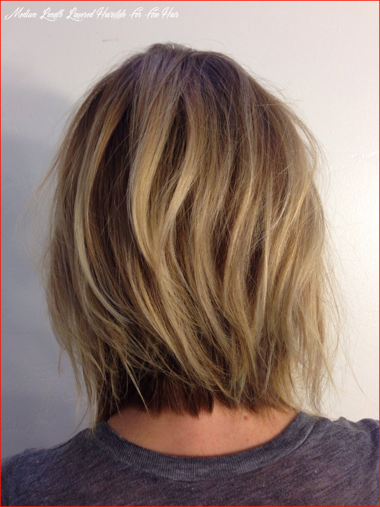 Top layered hairstyles for fine hair medium length collection of