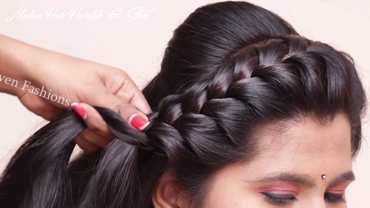 Traditional hairstyles for saree || easy & beauitful hairstyles | party & wedding hairstyles medium hair hairstyle for saree