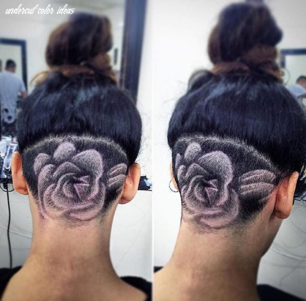 Trending and girly outfit ideas undercut designs rose, human hair