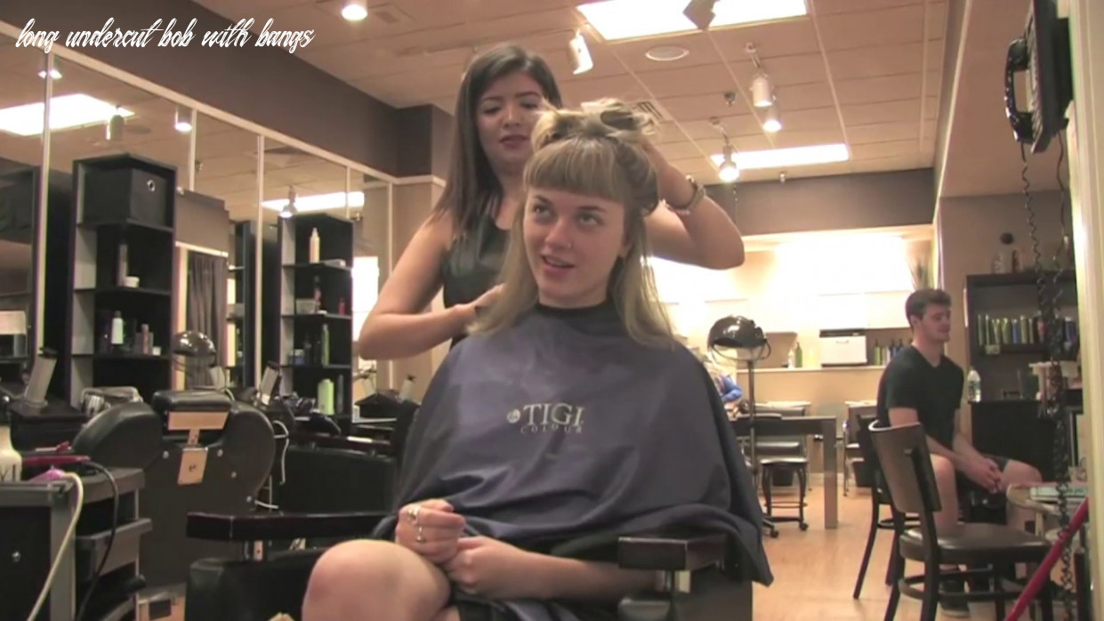 Tristn pt 11: long to short undercut bob w/ bangs (free video) long undercut bob with bangs