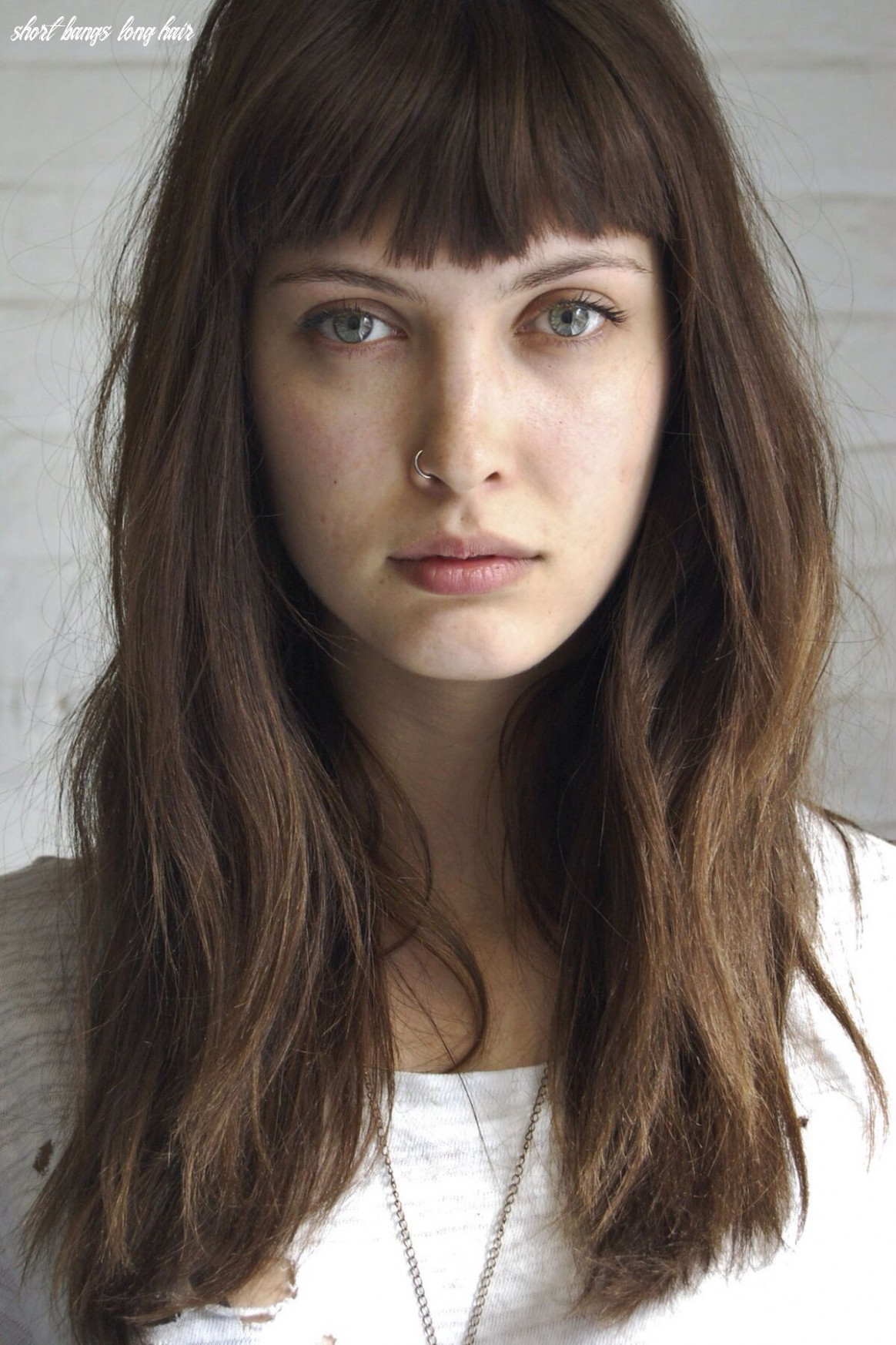 Troubled   long hair with bangs, long hair styles, hairstyles with
