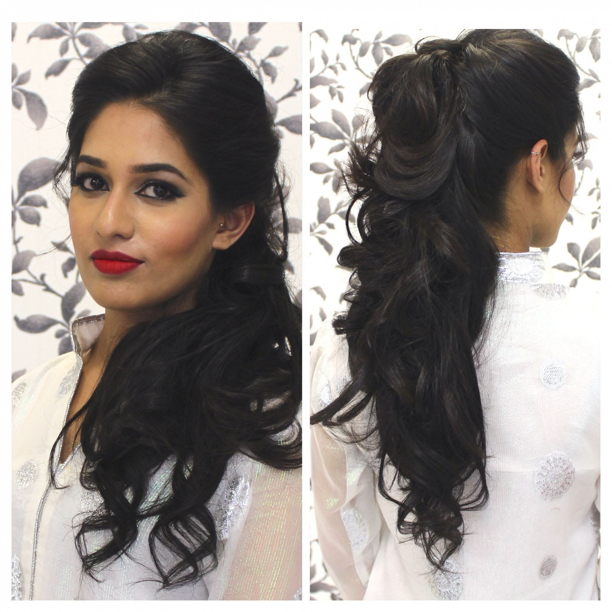 Tutorial: indian party hairstyle | indian party hairstyles, medium